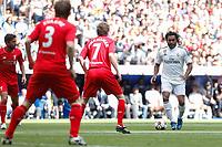 Real Madrid´s Karembeu during 2015 Corazon Classic Match between Real Madrid Leyendas and Liverpool Legends at Santiago Bernabeu stadium in Madrid, Spain. June 14, 2015. (ALTERPHOTOS/Victor Blanco)