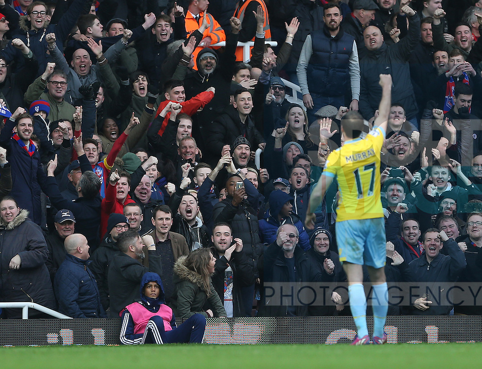 Crystal Palace's Glenn Murray celebrates his sides third goal<br /> <br /> Barclays Premier League - West Ham United  vs Crystal Palace  - Upton Park - England - 28th February 2015 - Picture David Klein/Sportimage