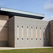 Exterior of Youth Detention Facility of Sacramento County photographed for Lionakis. Sacramento, CA. Civic Architecture Examples of Chip Allen Photography.
