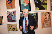 STANLEY JOHNSON, Exhibition opening of paintings by Charlotte Johnson Wahl. Mall Galleries. London, 10 September 2015.