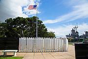 USS Oklahoma Memorial, Pearl Harbor, Ford Island, Honolulu, Oahu, Hawaii