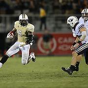 ORLANDO, FL - OCTOBER 09:  Rannell Hall #6 of the UCF Knights runs after a reception during an NCAA football game at Bright House Networks Stadium on October 9, 2014 in Orlando, Florida. UCF wont he game in overtime by a score of 31-24. (Photo by Alex Menendez/Getty Images) *** Local Caption *** Rannell Hall