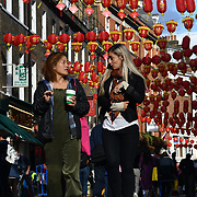Chinese moon festival celebration in Chinatown London