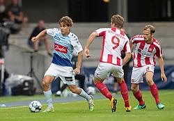 Julius Eskesen (AaB) under finalen i Sydbank Pokalen mellem AaB og SønderjyskE den 1. juli 2020 i Blue Water Arena, Esbjerg (Foto Claus Birch).