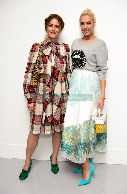 Yasmin and Amber Le Bon on the front row during the Antonio Berardi Autumn/Winter 2017 London Fashion Week show at the BFC venue at 180 Strand, London. Picture date: Monday February 20th, 2017. Photo credit should read: Matt Crossick/ EMPICS Entertainment.