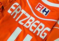 DEN BOSCH - Het shirt van Jeroen Hertzberger.   . Nederlands Hockeyteam  voor nieuwe platform Hockey.nl.    FOTO KOEN SUYK