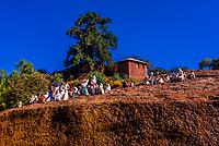 Ethiopian Orthodox pilgrims, Lalibela, Ethiopia.