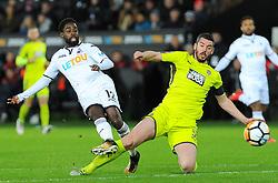 Nathan Dyer of Swansea City shoots at goal- Mandatory by-line: Nizaam Jones/JMP - 06/02/2018 - FOOTBALL - Liberty Stadium - Swansea, Wales - Swansea City v Notts County - Emirates FA Cup fourth round proper