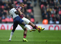 Tottenham Hotspur's Davinson Sanchez and Newcastle United's Salomon Rondon battle for the ball