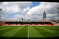 Griffin Park Stadium during the EFL Sky Bet Championship match between Brentford and Queens Park Rangers at Griffin Park, London, England on 22 April 2017. Photo by Andy Walter.