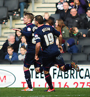 Preston North End's Will Hayhurst, left, celebrates scoring his sides first goal with team-mate John Welsh ..Football - npower Football League Division One - Milton Keynes Dons v Preston North End - Saturday 02nd March 2013 - Stadium:mk - Milton Keynes..© CameraSport - 43 Linden Ave. Countesthorpe. Leicester. England. LE8 5PG - Tel: +44 (0) 116 277 4147 - admin@camerasport.com - www.camerasport.com