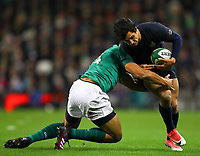 Rugby Union - 2017 Guinness Series (Autumn Internationals) - Ireland vs. Argentina<br /> <br /> Argentina's Matias Moroni is tackled by Ireland's Adam Byrne, at the Aviva Stadium.<br /> <br /> COLORSPORT/KEN SUTTON