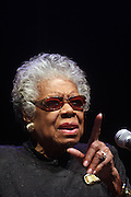 29 October 2010- Harlem, New York- Maya Angelou at The Acquisition of the Maya Angelou Collection of Personal Papers and Materials Documenting 40 years of the Writer's Literary Career held at the Schomburg Center on October 29, 2010 in Harlem, USA. Photo Credit: Terrence Jennings