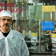 the operator of the olive oil filling machine