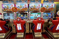 January 2, 2018 - Tokyo, Japan, Japan - Nintendo's Super Mario game character is pictured at a video game corner in Tokyo, Japan, January 2, 2018. (Credit Image: © Hitoshi Yamada/NurPhoto via ZUMA Press)