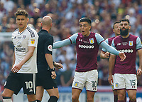 Football - 2017 / 2018 Sky Bet EFL Championship - Play-Off Final: Aston Villa vs. Fulham<br /> <br /> Jack Grealish (Aston Villa) moans to the referee about being continually fouled at Wembley Stadium.<br /> <br /> COLORSPORT/DANIEL BEARHAM