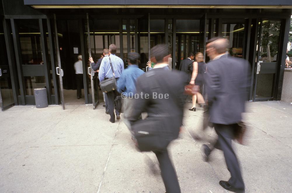 businessmen during rush hour