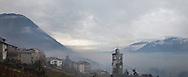 Italy,Valtellina, A village near Valmalenco