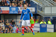 Portsmouth Forward, Brett Pitman (8) goalscorer with bloody nose during the EFL Sky Bet League 1 match between Portsmouth and Fleetwood Town at Fratton Park, Portsmouth, England on 16 September 2017. Photo by Adam Rivers.