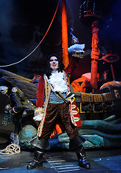 Peter Pan El Musical<br /> at The Garrick Theatre, London, Great Britain<br /> press photocall<br /> 27th March 2008<br /> <br /> Miguel Angel Gamero (as Captain Hook)<br /> Miguel Antelo (as Peter Pan)<br /> <br /> Photograph by Elliott Franks