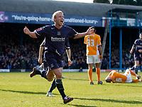 Photo: Daniel Hambury.<br />Southend United v Blackpool. Coca Cola League 1. 08/04/2006.<br />Southend's Luke Gutteridge celebrates scoring the winning goal.