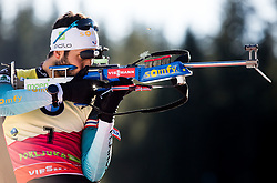 Martin Fourcade (FRA) in action during the Men 10km Sprint at day 6 of IBU Biathlon World Cup 2018/19 Pokljuka, on December 7, 2018 in Rudno polje, Pokljuka, Pokljuka, Slovenia. Photo by Vid Ponikvar / Sportida