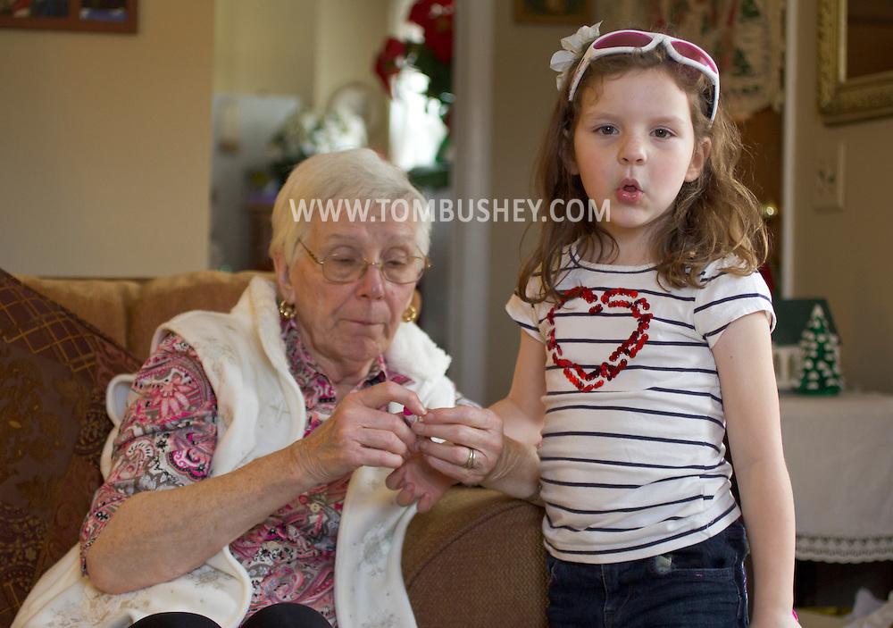 Monroe, New York - Christmas at Mary Bushey's home. Dec. 25, 2013.