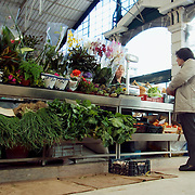 Fruit and vegetable stand at Lisbon's RIbeira Market