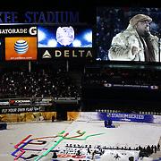 Cee Lo Green performing live at Yankee Stadium before the New York Rangers Vs New York Islanders  NHL regular season game held outdoors at Yankee Stadium, The Bronx, New York, USA. 29th January 2014. Photo Tim Clayton