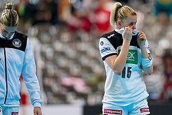 11-12-2019 JAP: Norway - Germany, Kumamoto<br /> Last match Main Round Group1 at 24th IHF Women's Handball World Championship, Norway win the last match against Germany with 32 - 29. / Kim Naidzinavicius #15 of Germany