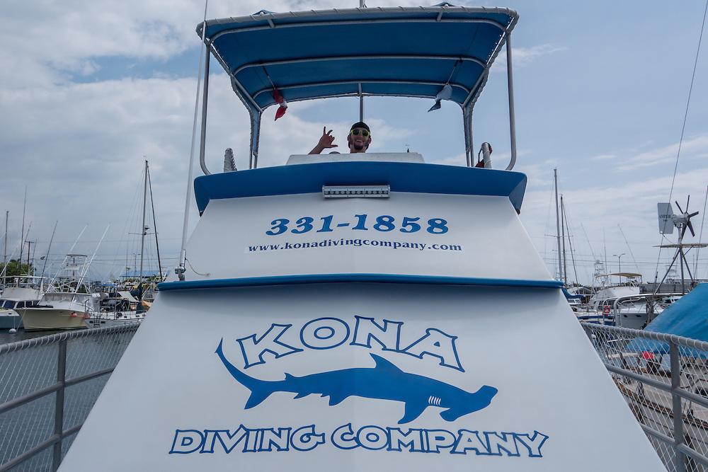 Scuba diving with Kona Diving Company, off Kona, Big Island, Hawaii. © William Drumm, 2013.