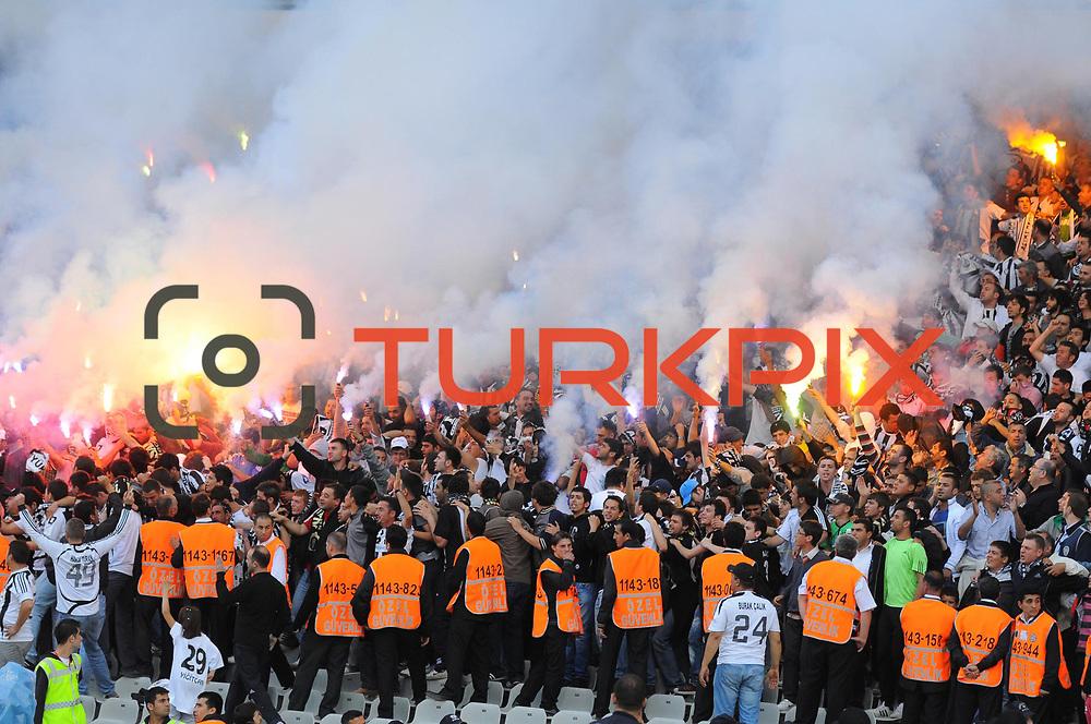 Altayspor's supporters during their Turkish soccer Play Off final match Altayspor between Konyaspor at Ataturk Olympic Stadium in Istanbul Turkey on Sunday, 23 May 2010. Photo by TURKPIX