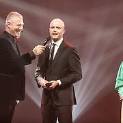 NLD/Amsterdam/201702013- Edison Pop Awards 2017, Andre Hazes Jr. wint in de categorie Volksmuziek
