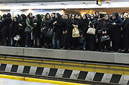 Tehran subway, women in tchador