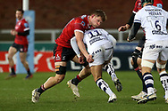 Gloucester Rugbys Ollie Thorley  Bristol Bears Henry Purdy during the Gallagher Premiership Rugby match between Gloucester Rugby and Bristol Rugby at the Kingsholm Stadium, Gloucester, United Kingdom on 12 February 2021.