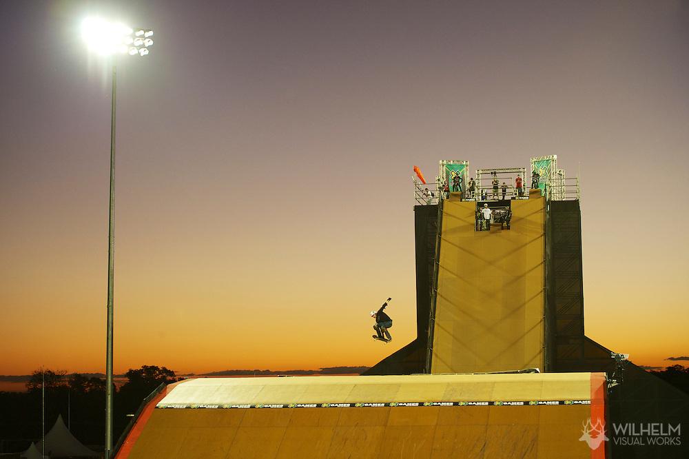 Edgar Pereira during Big Air Practice at the 2013 X Games Foz do Iguacu in Foz do Iguaçu, Brazil. ©Brett Wilhelm/ESPN
