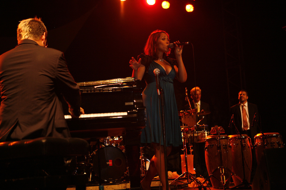 Cimiez-Nice, France. July 26th 2008..Pink Martini at the Nice jazz Festival.