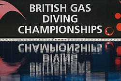 British Gas Diving Championships signage - Photo mandatory by-line: Rogan Thomson/JMP - 07966 386802 - 20/02/2015 - SPORT - DIVING - Plymouth Life Centre, England - Day 1 - British Gas Diving Championships 2015.