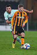 Regan Slater during the EFL Sky Bet League 1 match between Hull City and Rochdale at the KCOM Stadium, Kingston upon Hull, England on 2 March 2021.