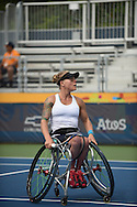 Kaitlyn Verfueth, United States defeats Yuka Chokyu, Canada at the Parapan Games in Toronto, Canada