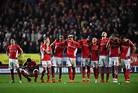 Football - 2018 / 2019 EFL Sky Bet League One - Play-Off Semi-Final, Second Leg: Charlton Athletic (2) vs. Doncaster Rovers (1)<br /> <br /> Charlton Athletic players wait on during the penalty shoot out, at The Valley.<br /> <br /> COLORSPORT/ASHLEY WESTERN