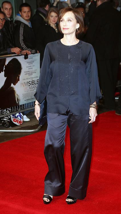 © London News Pictures. Kristin Scott Thomas, The Invisible Woman - UK film premiere, Odeon Kensington High Street, London UK, 27 January 2014. Photo credit: Richard Goldschmidt/LNP