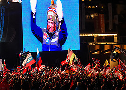 22.02.2019, Medal Plaza, Seefeld, AUT, FIS Weltmeisterschaften Ski Nordisch, Seefeld 2019, Siegerehrung, im Bild Übersicht // Overview during the winner Ceremony of FIS Nordic Ski World Championships 2019 at the Medal Plaza in Seefeld, Austria on 2019/02/22. EXPA Pictures © 2019, PhotoCredit: EXPA/ Erich Spiess