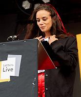 Hannah John-Kamen letters live at the  Wilderness Festival Cornbury Park Oxfordshire,photo by Mark Anton Smith