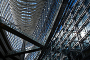 The interior of the Tokyo International Forum, Yurakucho, Tokyo, Japan. Friday, January 10th 2014