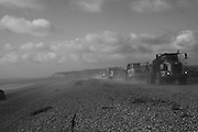 Every year shingle is brought to fPett Level  from the Rye Harbour end by trucks to try to prevent erosion .  20 October 2016