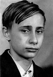 Before rising to power as one of the most infamous leaders in the world, Putin was a playful, hipster-dressing man in love. 1966 - St. Petersburg, Russia - A class photo with VLADIMIR PUTIN, 14. (Credit Image: © Russian Archives via ZUMA Wire)