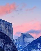 El Capitan andHalf Dome after Sunset,Yosemite National Park, California