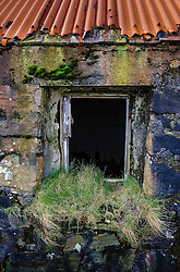 Detail of abandoned croft house near Lochmaddy, North Uist, Outer Hebrides, Scotland<br /> <br /> (c) Andrew Wilson | Edinburgh Elite media