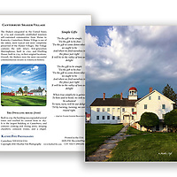 Canterbury Shaker Village Dwelling House Greeting Card. 5x7 100% Recycled Paper. Made in USA.